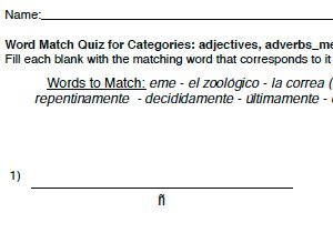 Word Match - Text