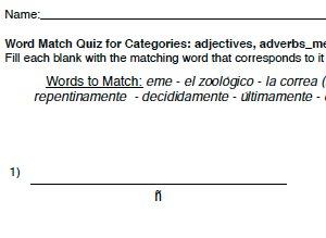 Word Match - Text